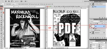 Drag PDF layer for cover jpeg