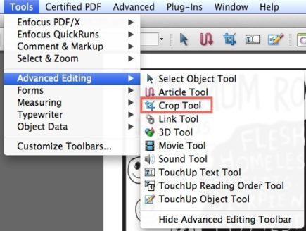 New Issue PDF - choose crop tool