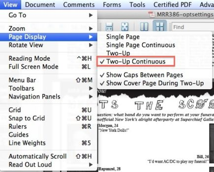 New Issue PDF - view 2-up continuous menu